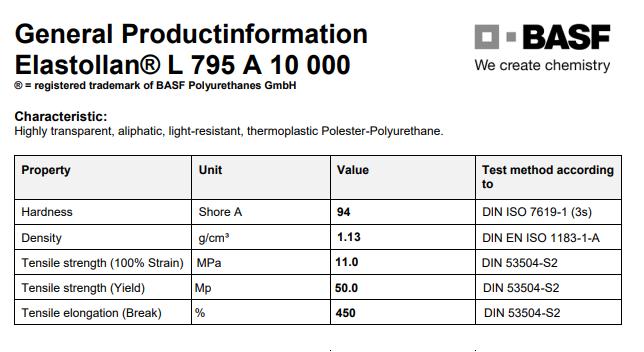 薄膜级TPU德国巴斯夫L795A10